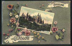 AK Glasgow, Art galleries, Gebäudeansicht