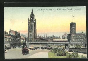 AK Liverpool, Over Head Railway and St. Nicholas Church