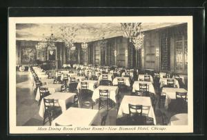 AK Chicago, IL, Main Dining Room (Walnut Room), New Bismarck Hotel