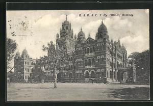AK Bombay, View to the B. & B. & C. J. Ry. Offices