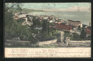 AK San Remo, Panorama, Vista dalla Villa Pasteur