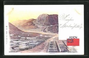 AK Aden, Blick auf die Siedlung am Stadtrand