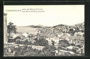 AK Lussinpiccolo, Gesamtansicht vom Kalvarienberg gesehen