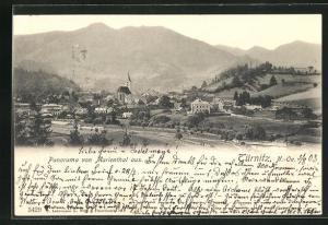 AK Türnitz, Panorama von Marienthal gesehen