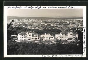 AK Sopron-Ödenburg, Ausblick auf das Löwer-Hotel
