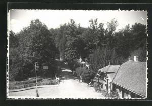 AK Bad Sovata, Teilansicht mit Häusern am Park