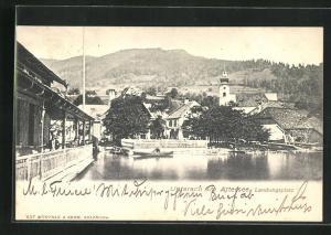 AK Unterach am Attersee, Landungsplatz