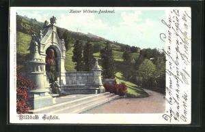 AK Gastein, Kaiser Wilhelm-Denkmal