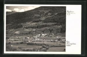 AK Moosheim, Ortsansicht mit Bahnhof Gröbming