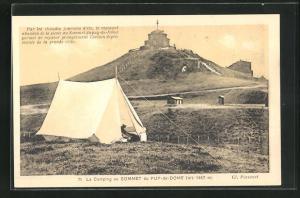 AK Puy-de-Dome, Le Camping au Sommet