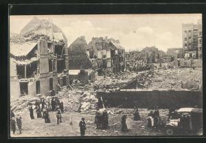 AK Lille, Explosion 1916, Ortspartie