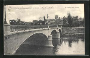 AK Soissons, Le Nouveau Pont sur l`Aisne