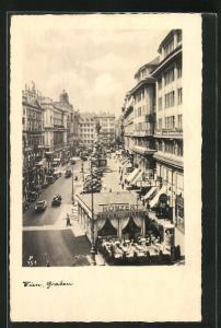 AK Wien, Graben, Geschäfte und Konzert Graben-Kaffee