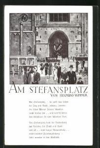 AK Wien, Reges Treiben am Stefansplatz