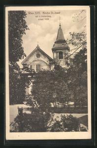 AK Wien, Kirche St. Josef auf dem Kahlenberg