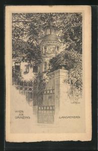 Künstler-AK Wien, Grinzing, Langackerg, Haus Nr. 15