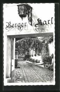 AK Wien, Karl Berger, Heuriger, Eingang, Himmelstr. 19