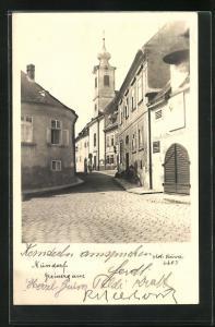 AK Wien-Nussdorf, Blick in die Greinergasse
