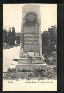 AK Wien, Grabdenkmal Ferdinand Sauter