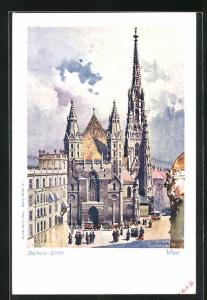 Künstler-AK Wien, Blick auf die Stephanskirche