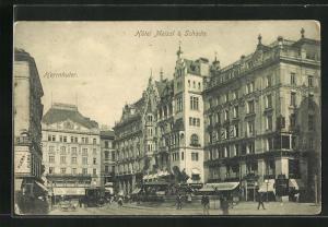 AK Wien, Hotel Meissl & Schadn., Herrnhuter