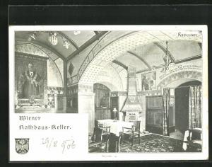 AK Wien, Gasthaus Wiener Rathauskeller, Rathsstube