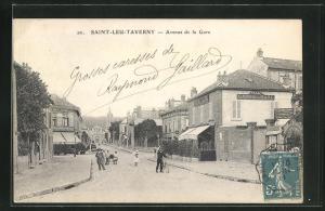 AK Saint-Leu-Taverny, Avenue de la Gare