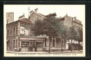 AK Enghien-les-Bains, Place de Verdun, Boulevard Sadi-Carnot