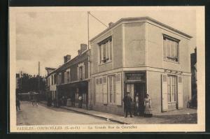 AK Presles-Courcelles, La Grande Rue de Courcelles