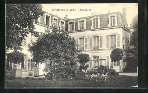 AK Sarcelles, Villa et Jardin, Téléph. 10