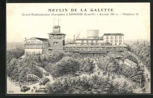 AK Sannois, Moulin de la Galette, Grand Etablissement champêtre, Restaurant