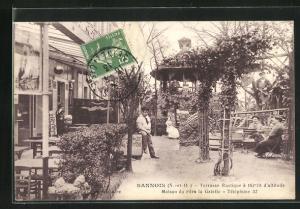 AK Sannois, Terrasse Rustique, Maison du Père la Galette