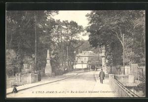 AK L` Isle Adam, Rue de Conti et Monument Commémoratif
