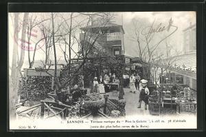 AK Sannois, Terrasse rustique du Pére la Galette