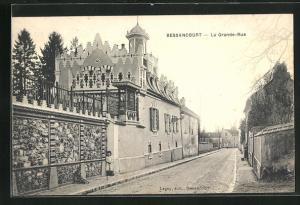 AK Bessancourt, La Grande-Rue, Strassenpartie
