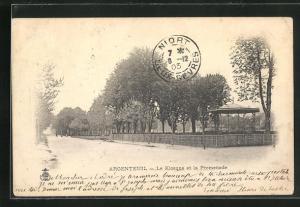 AK Argenteuil, Le Kiosque et la Promenade