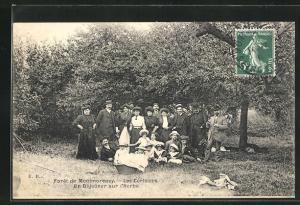 AK Montmorency, Foret, Les Cerisiers, Un Dejeuner sur l`Herbe