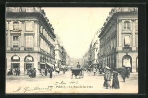 AK Paris, La Rue de la Paix