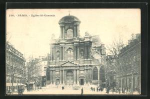 AK Paris, Eglise St-Gervais