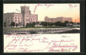 AK Wien, Partie vor dem K.u.K. Artillerie-Arsenal