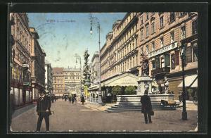 AK Wien, Blick auf Graben mit Josefsbrunnen