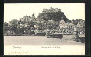 AK Salzburg, Carolinenbrücke und Festung