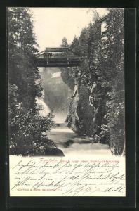 AK Gastein, Blick vin der Schreckbrücke
