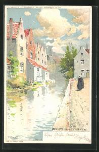 Künstler-AK Bruges, Vieux Picnoms