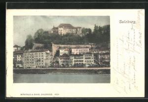AK Salzburg, Teilansicht der Stadt