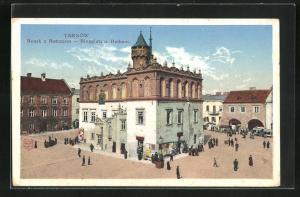 AK Tarnów, Rynek z Ratuszem, Ringplatz u. Rathaus