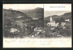 AK Dürrnberg, Gesamtansicht, Kirche