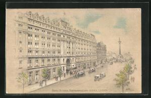 Künstler-AK London, Hotel Victoria, Northumberland Avenue