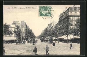 AK Paris, L`Avenue La Motte-Piquet, Pferdebahn