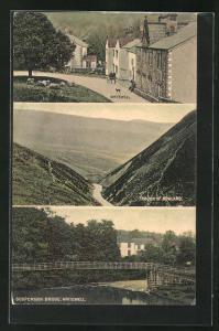 AK Whitewell, Suspension Bridge, Though of Bowland, Ortsansicht